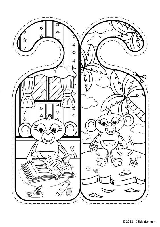 Door Hangers 123 Kids Fun Apps Storytime Crafts Door Hangers Hanger