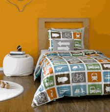 Transportation Twin Duvet Set
