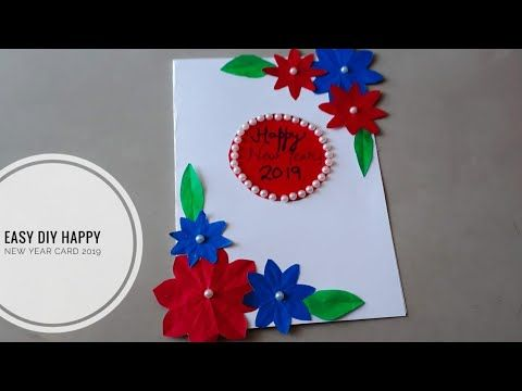 How To Make An Easy Happy New Year Card 2019 Handmade Card For