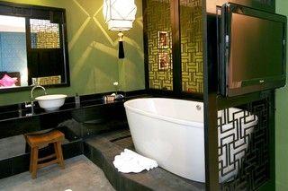 Sweet Bathroom Decor. #Thai #Indiantheme #ShanghaiMansion