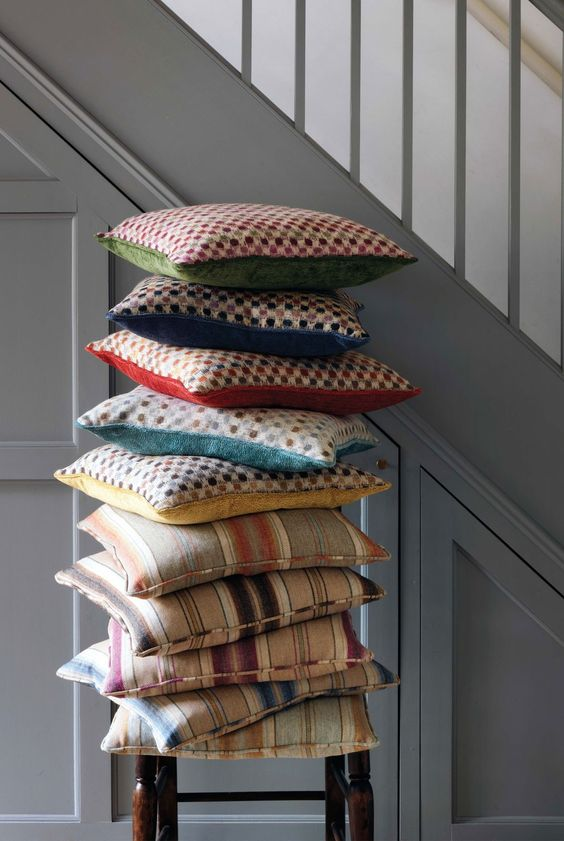Innis Stripe and Brodie Cushions