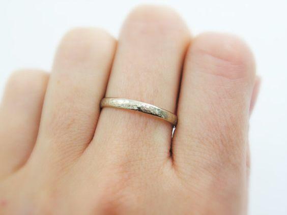 3mm Wedding Band White Gold