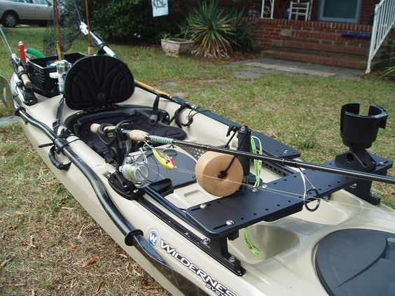 Tarpon 140 fully rigged w slidetrax accessories for Fishing kayak mods