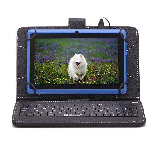 iRULU eXpro Tablette Tactile 7 Pouces 16G, Résolution 1024*600, Quad Core, Google Android 4.4 KitKat, Double Caméras – Bleu -avec Housse…
