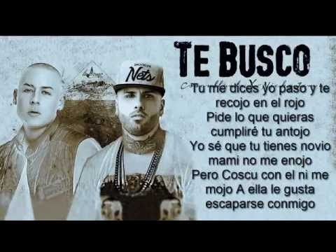 Te Busco Cosculluela Feat Nicky Jam Letra Youtube Youtube Music Fest Videos