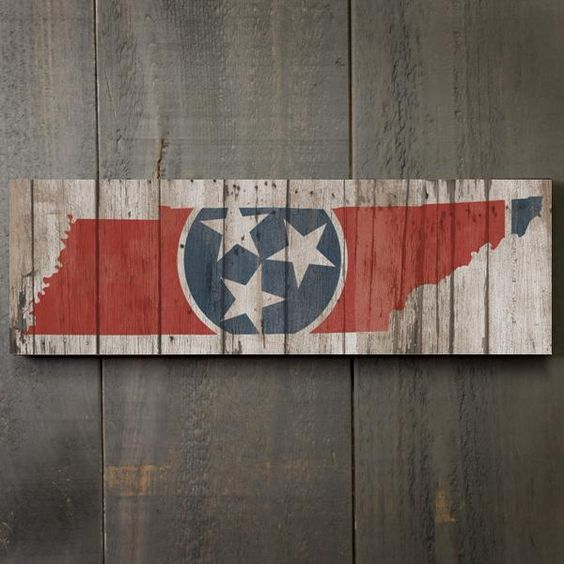 "Rustic Tennessee State Flag 17"" Wood Sign  #Tennessee #signs #wood #stateflags"