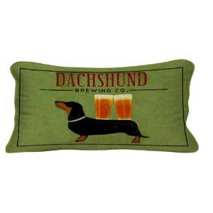Amazon.com - Dachshund Brewing Co. Lumbar Pillow - Throw Pillows