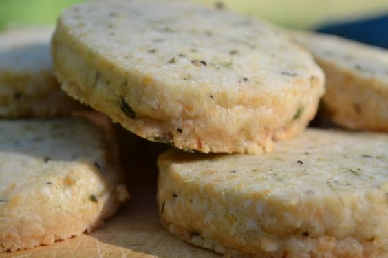 Lemon Thyme Shortbread (adapted from Ina Garten) Savory!