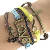 Bronze infinity love bracelet