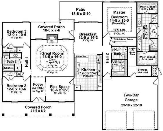 House plans cars and bonus rooms on pinterest for Usda house plans