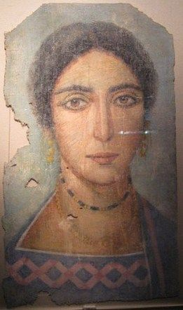 Link to largest collection of encaustic (mummy) portraits I have seen in one place on the web.  A Woman, ? , 2e-3e cent. AD (Riom, Musée Mandet, CR 79-1-148)