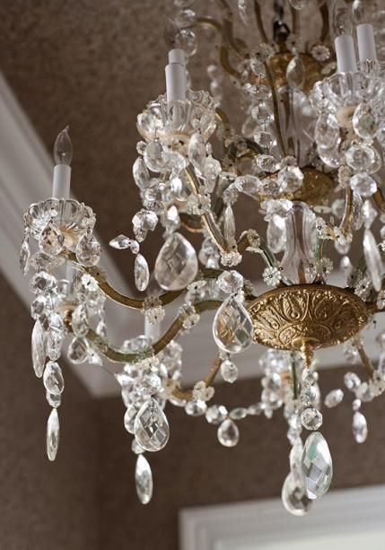 1880's french crystal chandelier #bluedivagal bluedivadesigns.wordpress. Similar to the original .com