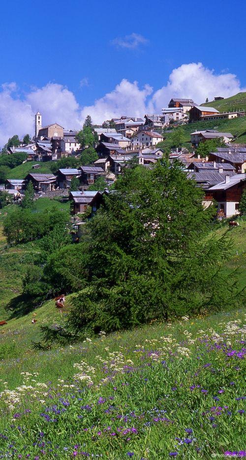 Village de Saint-Véran, le plus haut village de France