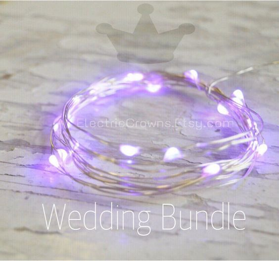 Purple Wedding Fairy Lights Wedding decor Violet by ElectricCrowns