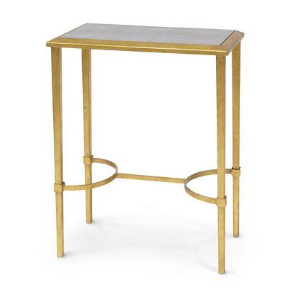 OXFORD SHAGREEN DRINK TABLE, GOLD LEAF by PALECEK