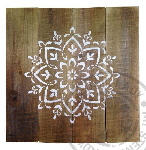 Mandala Timber Art Natural