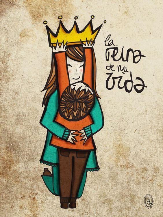 la reina de mi vida dia de la madre maternidad por vireta en Etsy, €22.00: