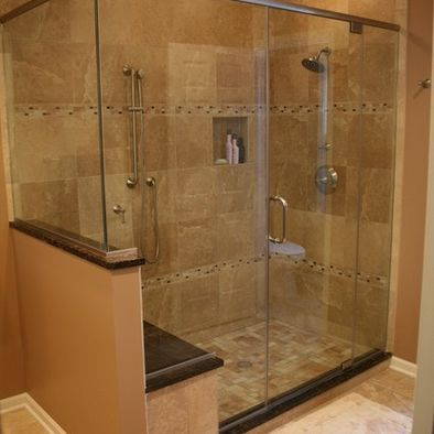 Shower tile design pictures remodel decor and ideas for Traditional tile bathroom ideas