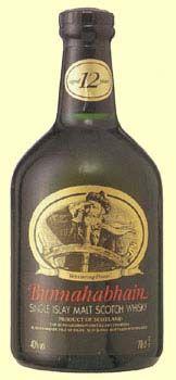 Bunnahabhain twelve years old Scotch whisky.