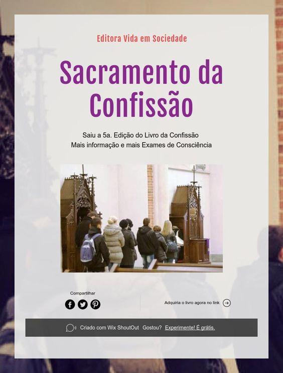 Editora Vida em Sociedade    Sacramento da Confissão