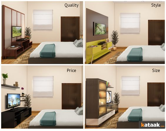 which tv unit looks best for your bedroom try all parameters from size style tvs