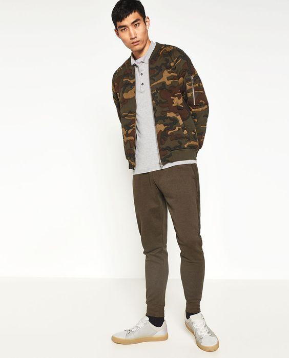 Imagem 1 de BOMBER CAMUFLAGEM da Zara
