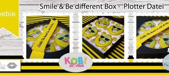Collage Freebie 4er Box Smilie