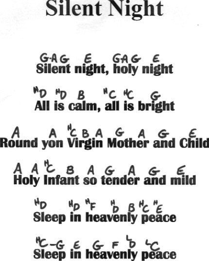 silent night flute notes