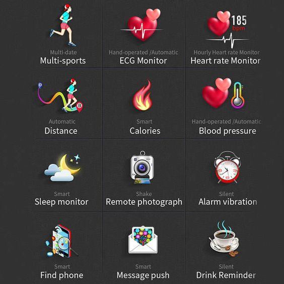 Online Shop Lykry Mx9 Ecg أسورة ساعة ذكية مع تخطيط القلب ومعدل ضربات القلب مراقبة ضغط الدم Ppg Smartwatch 8 لغات دليل Aliexpress Mob Incoming Call Screenshot