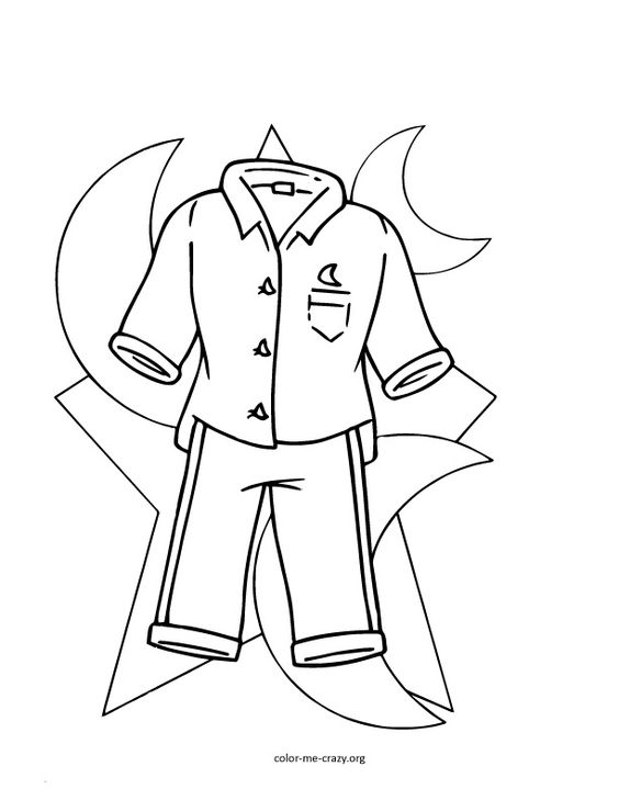 pajama theme coloring pages - photo#9