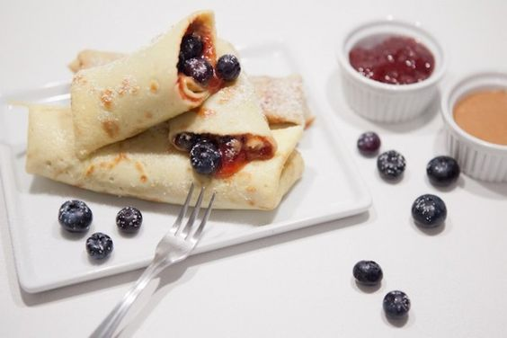 Jen's Blog of Random Thoughts: Recipe: Peanut Butter & Jelly Crepes by Giada De Laurentiis