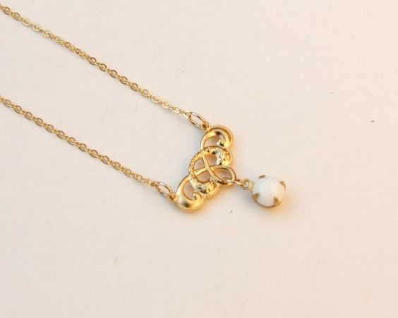 Bridal Necklace Pearl Necklace Gold  Necklace by YaelSteinberg, $39.00
