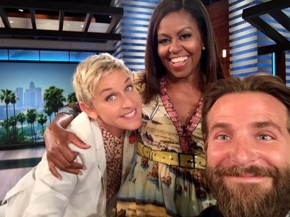 "The First Lady on Twitter: ""Surprise! Guess who stopped by @TheEllenShow today…"