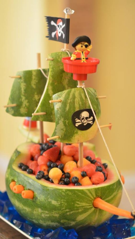 Pirate party idea - Nice, need some thought and time to do the boat, but can make a nice center piece