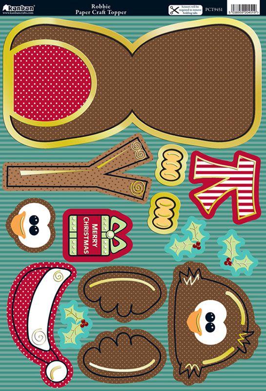 Kanban Wobblers card kit - Christmas - Robbie Robin