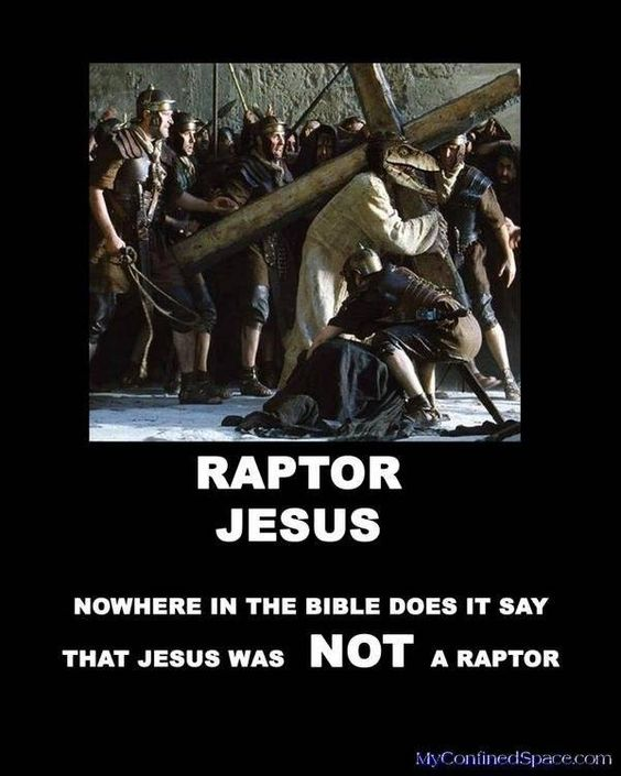 Raptor Jesus via @TheRealRussWee