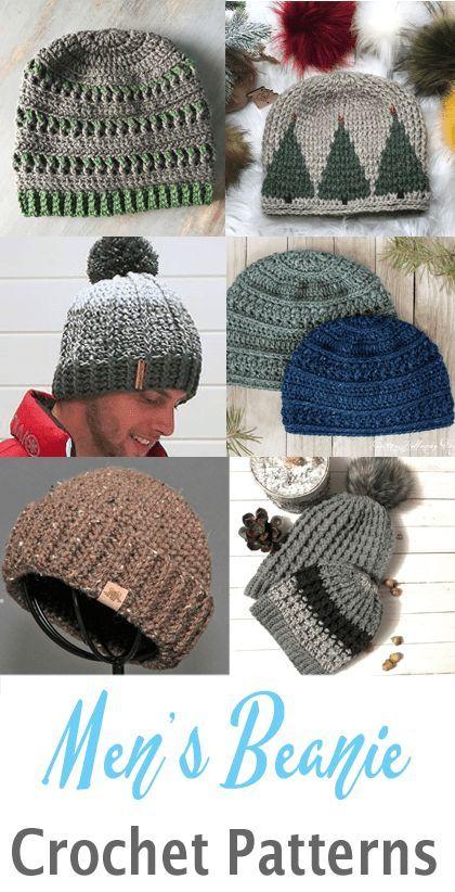 Make Some Men S Beanies Crochet Mens Hat Crochet Mens Hat Pattern Crochet Beanie Pattern Free
