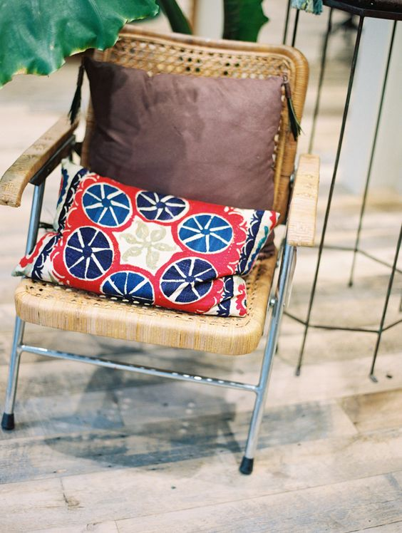 sometimes old furniture is better. anthropologie chair and pillow. lovely.  photo by Carolly Photography {www.carollyphoto.com}