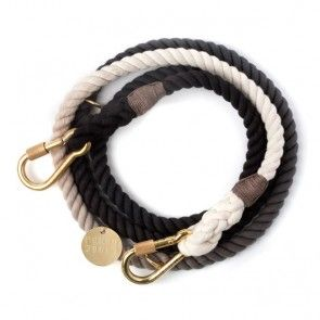 Found My Animal Adjustable Rope Leash Black Ombre
