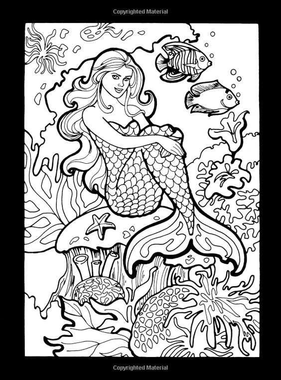 Mermaids Stained Glass Coloring Book (Dover Stained Glass Coloring Book): Eileen Rudisill Miller: 9780486465555: Amazon.com: Books: