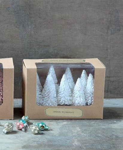 Winter White Pine Forest from The Holiday Barn
