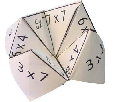Diy cocotte en papier pour apprendre les tables de for Apprendre la multiplication
