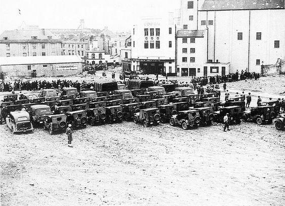 American troops by the Odeon cinema, Plymouth 1940s