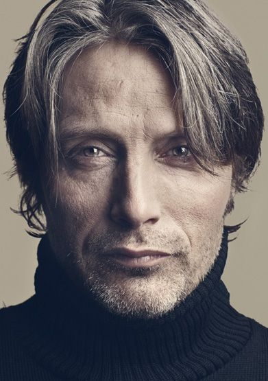Mads Mikkelsen ...hmmmm// do i like the light in the eyes? like his expression, but not the texture of the skin