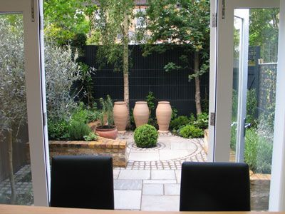 Charlotte small courtyards and courtyards on pinterest for Small private garden ideas