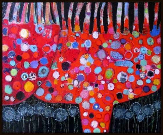Elke Trittel acrylic on canvas 50x70cm