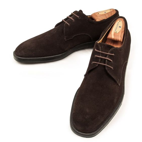 salvatore ferragamo mens shoes brown suede oxford lace up
