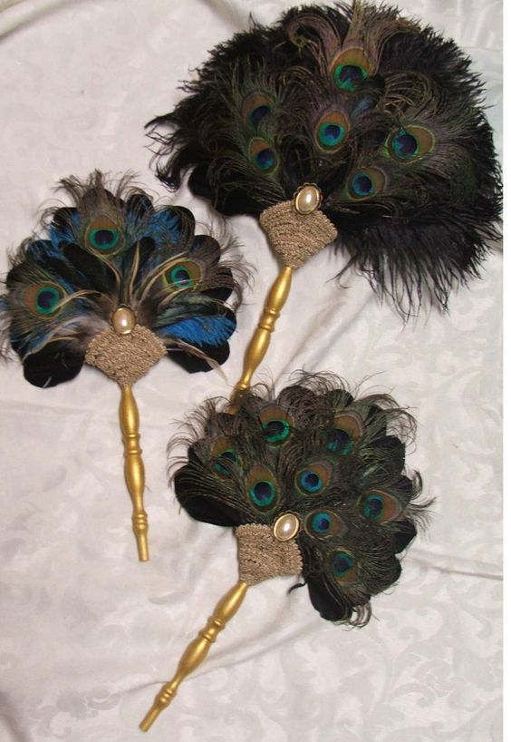 Peacock Feather fans: