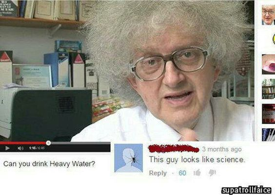 This guy bleeds science!