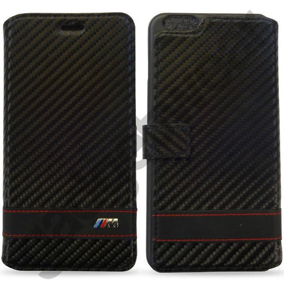 Official bmw m #collection #carbon black stripe book case for #apple iphone 6 plu,  View more on the LINK: http://www.zeppy.io/product/gb/2/161562486594/